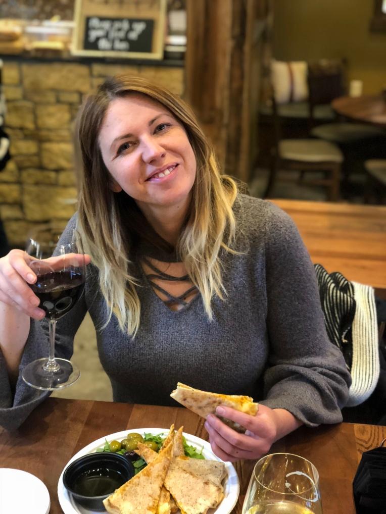 Enjoying Minnesota Wine form Minnesota grapes at Chankaska Creek